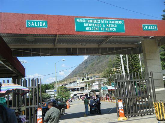 メキシコからグアテマラへの陸路での国境越え