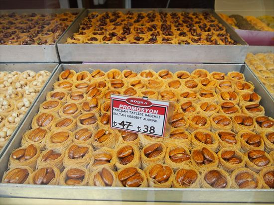 イスタンブール観光・グランドバザールで食べたいスウィーツ