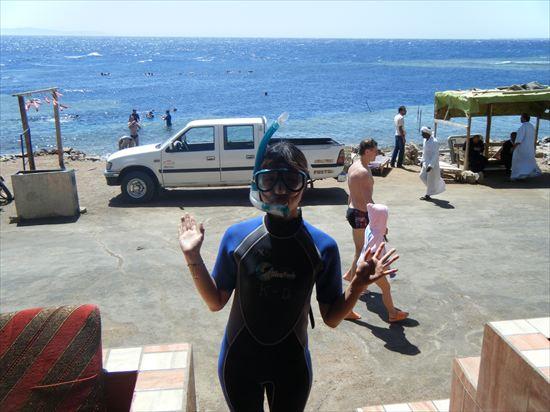 ダハブの海「ブルーホール」でシュノーケリング♪