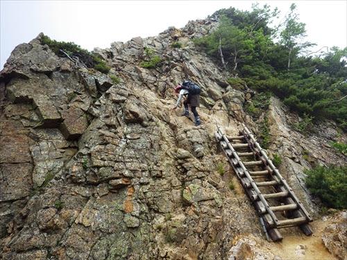 初心者が登る北アルプス縦走記④ | 試練の道。