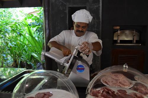 モルディブのレストランの昼食
