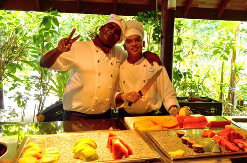 モルディブのリゾートのレストラン