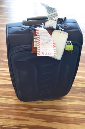 ロストバゲージにあったスーツケース