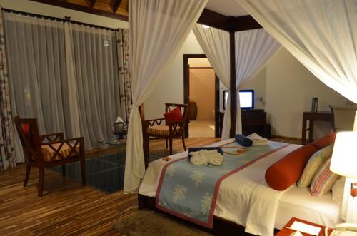 モルディブのホテルの部屋