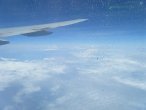モルディブにむかう飛行機