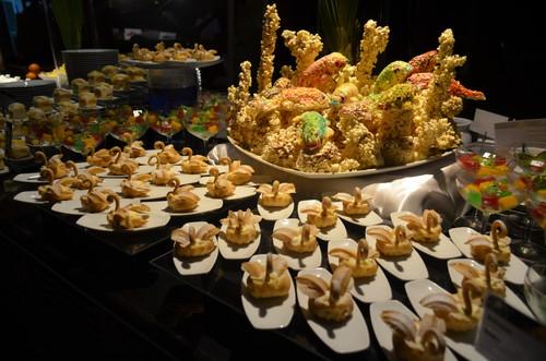 モルディブのレストランの食事