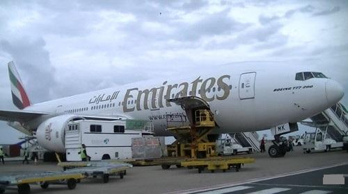エミレーツ航空の飛行機