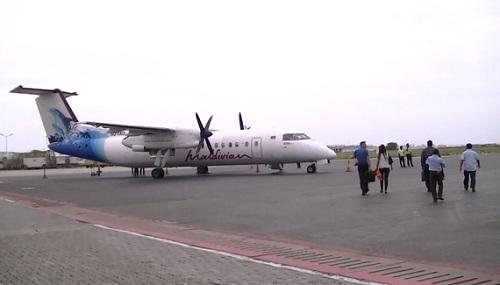 モルディブの国内線飛行機