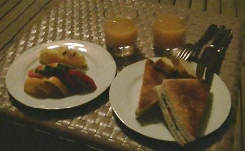 モルディブのホテルの朝食